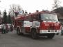 Předvádění T 815 mladým hasičům v Bordovicích
