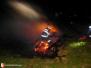 Požár pražců - 8. 4. 2011