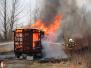 Požár maringotky - 15. 3. 2015