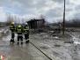 Požár stavební buňky - 28. 2. 2020